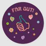 Sixties Far Out Sticker
