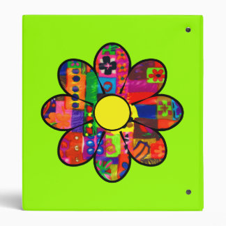 Sixties Flower Power Binder