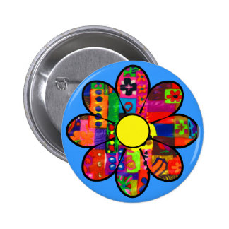 Sixties Flower Power Pinback Button