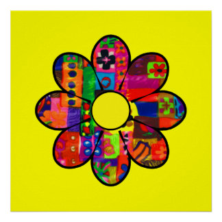 Sixties Flower Power Poster