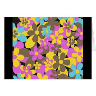 Sixties Flowers Card