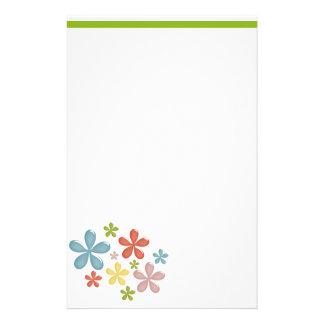 Sixties Flowers Stationery Design