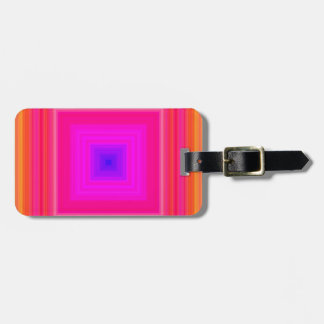 Sixties Gradient - Pink Blue Purple Orange Yellow Luggage Tag