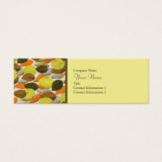 Sixties Inspired Mini Business Card