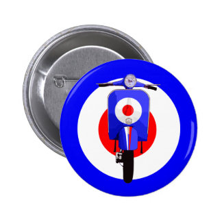 Sixties Look Scooter on Mod Target Pin