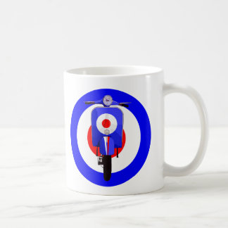 Sixties Look Scooter on Mod Target Coffee Mug