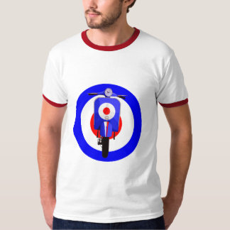 Sixties Look Scooter on Mod Target T-Shirt