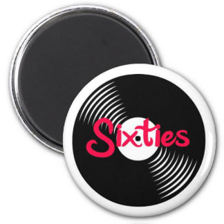 Sixties LP 2 Inch Round Magnet