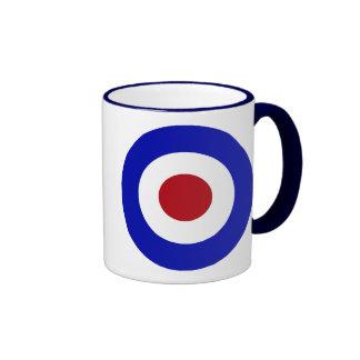 Sixties Mod Emblem Ringer Coffee Mug