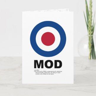 Sixties Mod Target Card card
