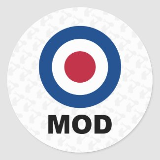 Sixties Mod Target Sticker sticker