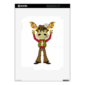 Sixties Peace Hippie Giraffe iPad 2 Decals