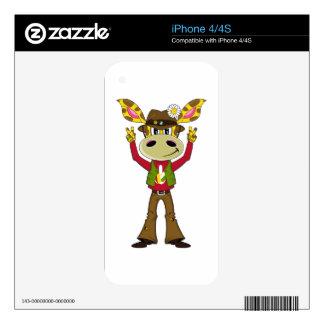 Sixties Peace Hippie Giraffe iPhone 4S Skin
