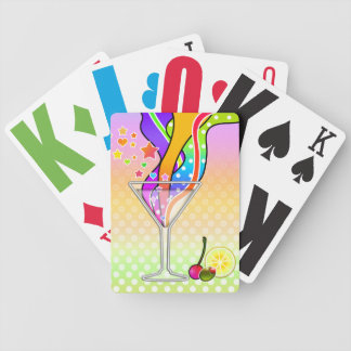 SIXTIES POP ART STYLE MARTINI BICYCLE PLAYING CARDS