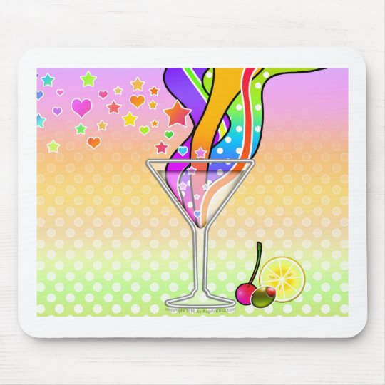 SIXTIES POP ART STYLE MARTINI MOUSE PAD
