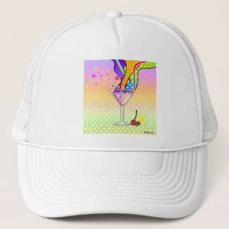 SIXTIES POP ART STYLE MARTINI TRUCKER HAT