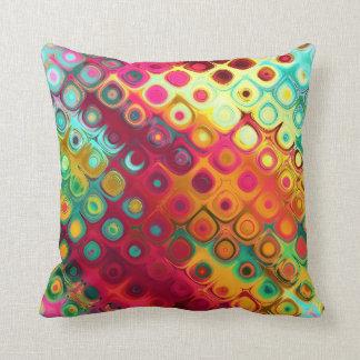 sixties psychodelic throw pillow