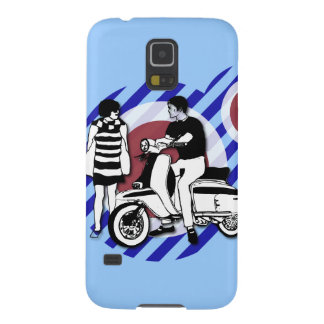 Sixties scooter boy and girl Vintage Scooter Case For Galaxy S5