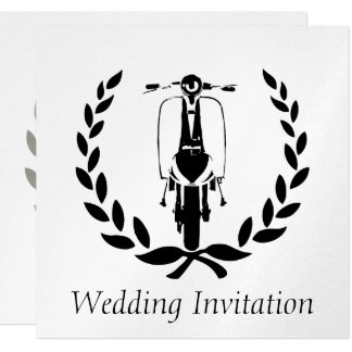 Sixties Scooter Boy Wedding Invitations