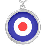 Sixties scooter mod target art necklace