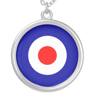 Sixties scooter mod target art silver plated necklace