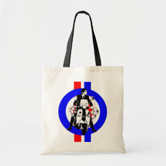 Sixties Scooter Rider on  target and stripes Bags