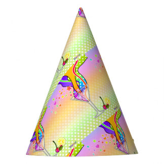 SIXTIES STYLE POP ART MARTINI PARTY HAT