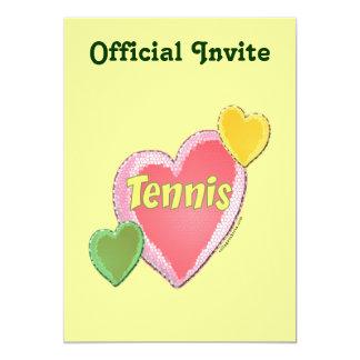 Sixties Tennis Hearts Card