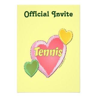 Sixties Tennis Hearts Custom Invite