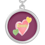 Sixties Tennis Hearts Necklaces