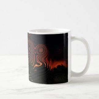 Sixties tie dye sunset coffee mug