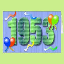 Sixtieth Birthday 1953 Card