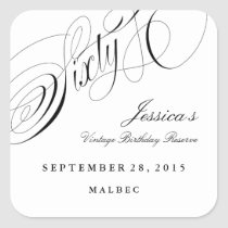 Sixtieth Birthday Party Wine Label