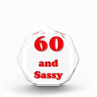 Sixty and sassy humorous age birthday awards