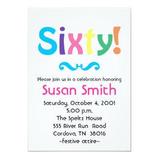Sixty Birthday Invitation