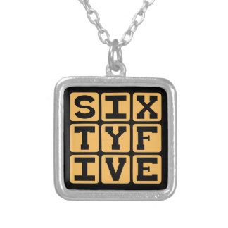 Sixty Five, Number 65, Retirement Age Necklaces