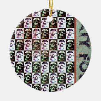 Sixty Four Skulls Christmas Tree Ornament