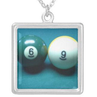 Sixty Nine Square Pendant Necklace