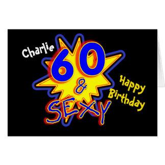 Sixty & Sexy Funny Milestone 60th Birthday Card