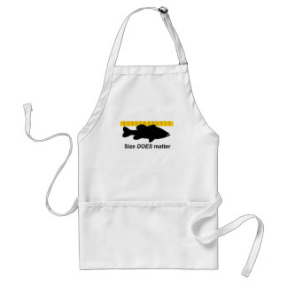 """Size Does Matter"" - Funny bass fishing Adult Apron"