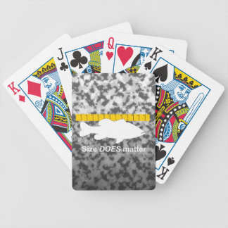 """Size Does Matter"" - Funny bass fishing Bicycle Playing Cards"