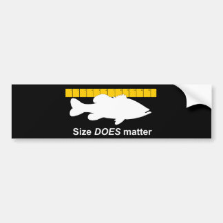 """Size Does Matter"" - Funny bass fishing Bumper Sticker"