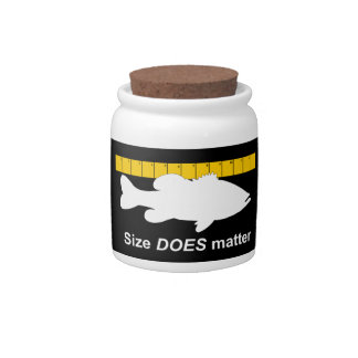 """""""Size Does Matter"""" - Funny bass fishing Candy Dish"""