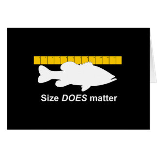 """""""Size Does Matter"""" - Funny bass fishing Card"""