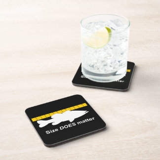 """Size Does Matter"" - Funny bass fishing Drink Coaster"