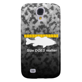 """""""Size Does Matter"""" - Funny bass fishing Galaxy S4 Cover"""