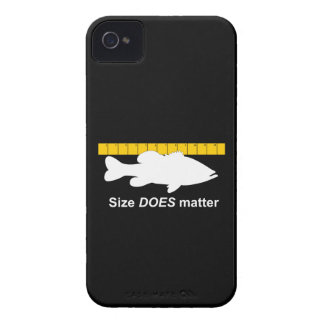 """Size Does Matter"" - Funny bass fishing iPhone 4 Case-Mate Case"
