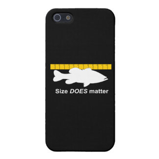 """""""Size Does Matter"""" - Funny bass fishing iPhone SE/5/5s Cover"""