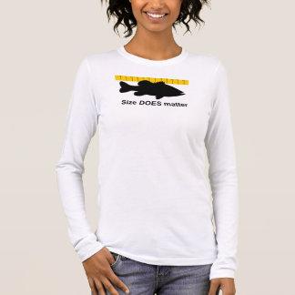 """Size Does Matter"" - Funny bass fishing Long Sleeve T-Shirt"