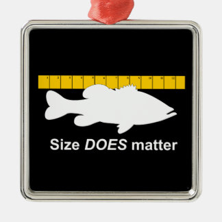 """""""Size Does Matter"""" - Funny bass fishing Ornament"""